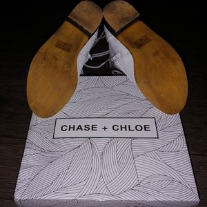 Chase + Chloe Shoes - Leather Lace-Up Combat Boots